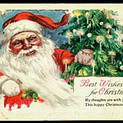 Merry Christmas Santa Claus 1921 Postcard