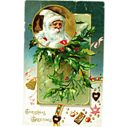 White Santa Claus/Father Christmas 1906 Postcard