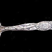 """SALE PENDING Sterling Silver 6"""" Washington DC Souvenir Spoon"""
