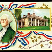 George Washington Birthday 1907 Postcard