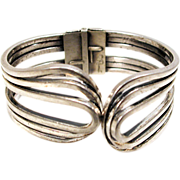 Silver Plated Copper Rhythm Clamper Bracelet signed Rame