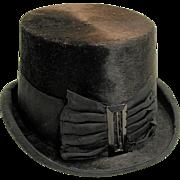 SALE 1870s Lady's Beaver Riding Hat, Victorian Dressage