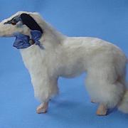 "antique fur Borzoi 4 French fashion doll Germany 5"""