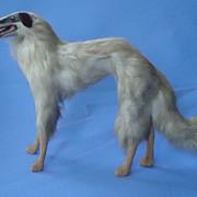 "SALE antique fur 10"" Borzoi Germany 4 French fashion doll"