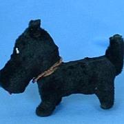 "SALE ...old black fur toy dog 4 French fashion doll Scotty Fripon  terrier 4"""