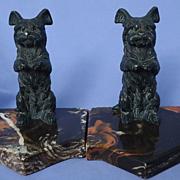 SALE Skye Silky terrier Briard bookends Austria