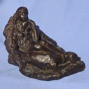 bronze 2  Saluki & girl