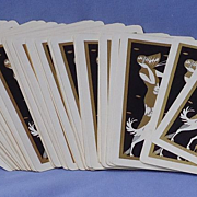 HTF deco lady Borzoi card deck
