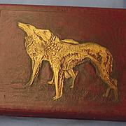 """SALE Victorian Borzoi Valentine box 11"""""""