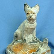 ..1930s circus FRENCH BULLDOG Boston Terrier ashtray