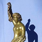 "antique bronze Falconer Italian Greyhound Whippet 12"""