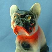 1930/40s carnival chalk dog French Bulldog