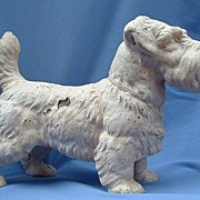 RARE 1930s Hubley cast iron door stop  Sealyham terrier 14""