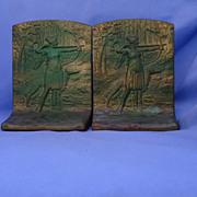 SALE art deco Judd bookends Borzoi & huntress  only