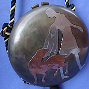 Miriam Marshall metal clutch purse art deco flapper setter