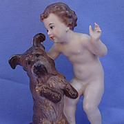 "SALE Rosenthal Skye Silky terrier & boy 6"""