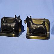 SALE Scottish terrier Scotty dog bronze bookends