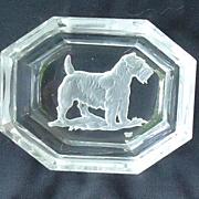 art deco crystal Sealyham Cesky terrier Czechoslovakia