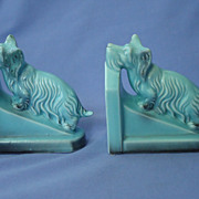 SALE 1930 Skye Silky terrier Briard dog bookends Germany