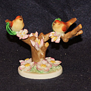 Herend Songbirds with Cherry Blossoms