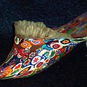 Millefiori Glass Slipper Shoe