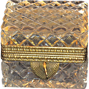 Bronze Mounted Jewelry Casket or Trinket Box