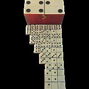 Dominoe Set in Wooden Box