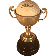 English Sterling Silver Golf Trophy with Plinth - Hole-in-One