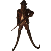 Black Forest Alpine Hunter Figure Crop Hook with Chamois Hooks.