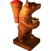 Black Forest Thimble Bear and Pin Cushion