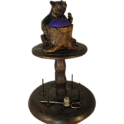 Black Forest Bear Bobbin Stand - c1890.