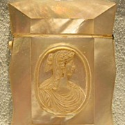 Mother of Pearl Card Case - Roman Lady
