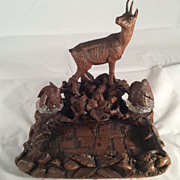 SALE Black Forest Ink Stand with Chamois