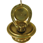 Brass Horse Shoe Pocket Watch Holder