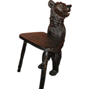 Black Forest Bear Chair