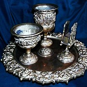 SALE Brass Table Top Smoking Stand