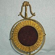 French Gilded Brass Pocket Watch Holder