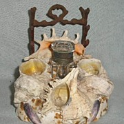 Shell Inkwell with Pen Rest