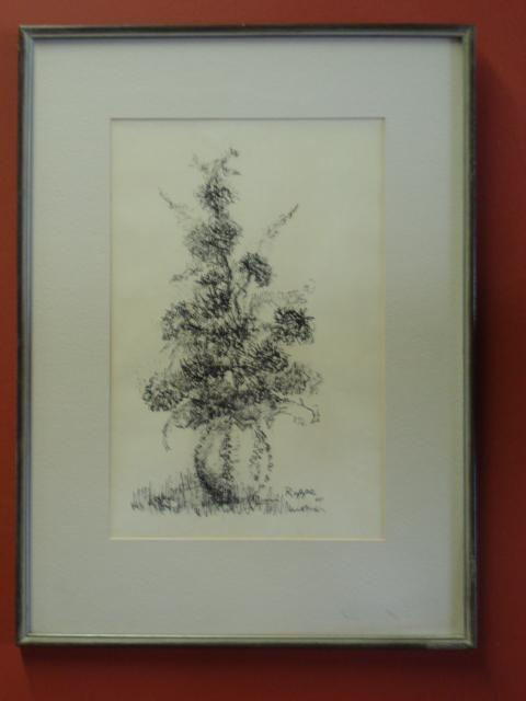 Original Drawing By Rappe 65' Framed and Matted