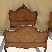 French Antique Louis XV Carved Bed French Antique Bedroom Furniture Free Shipping