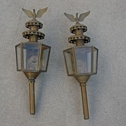 Pair of French Antique Carriage Lamps Antique Wall Sconces