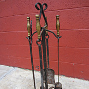 French Antique Fireplace Tool Set Antique Fireplace Accessories