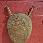 French Shield and Swards Wall Display