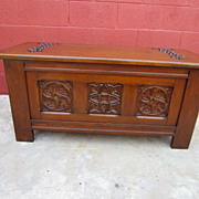 French Antique Gothic Chest Trunk Antique Furniture