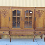 French Antique Sideboard China Cabinet Server Antique Furniture