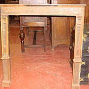 American Victorian Antique Bronze Fire Place Mantel Fire Surround Mantle
