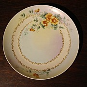Antique French Porcelain Haviland Wall Hung Plate