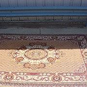SOLD Antique Wool Oriental Carpet Persian Rug