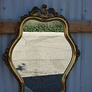 Vintage American French Revival Gilt Wall Mirror