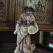 Original Large Royal Dux Bohemia Porcelain Figurine Porcelain Statue